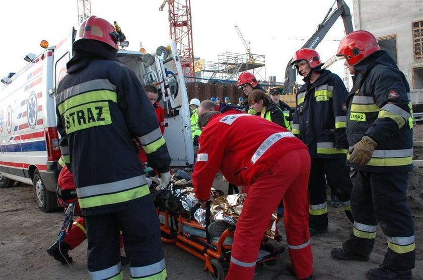 Wypadek na placu budowy stadionu narodowego