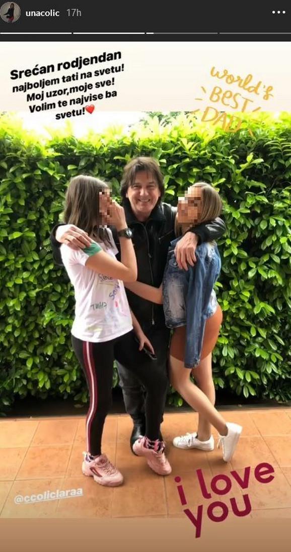 Zdravko Čolić sa ćerkama
