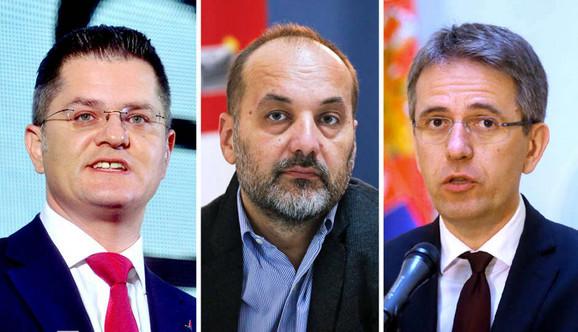 Vuk Jeremić, Saša Janković i Saša Radulović