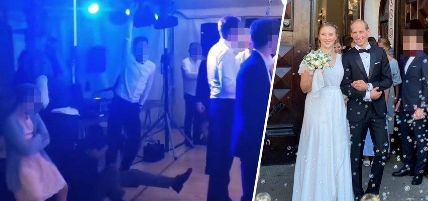 Huczna zabawa na weselu Julii Królikowskiej. Gość młodej pary wpadł w konsolę didżeja! ZDJĘCIA