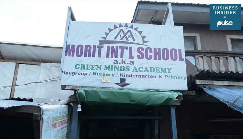Morit Int'l School, Ajegunle where pet bottle is exchange for school fee