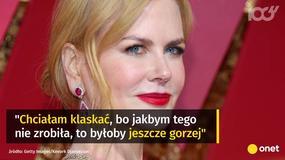 Nicole Kidman tłumaczy się z zachowania na gali Oscarów