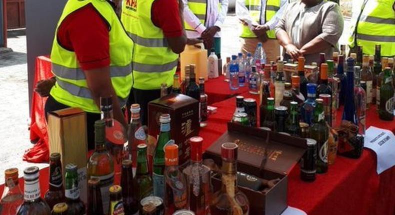 KRA destroys alcohol worth Ksh15 billion