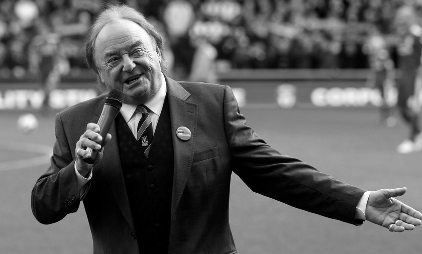 FILE PHOTO: Liverpool supporter and singer Marsden sings before their English Premier League soccer