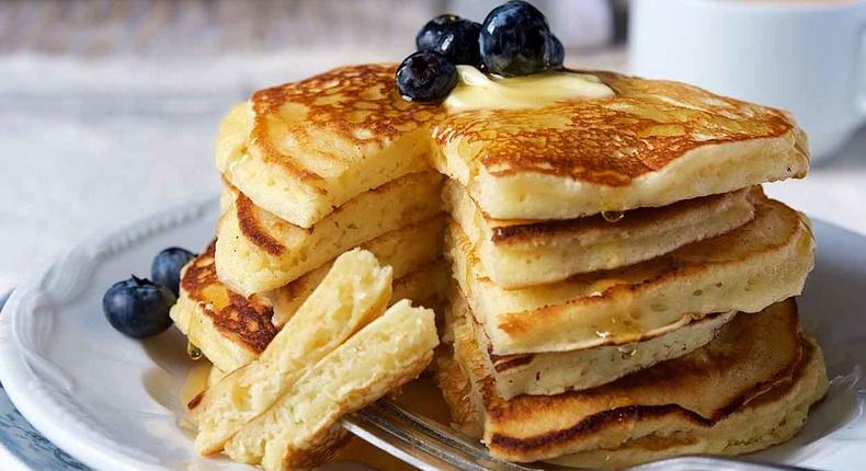 Delicious pancakes(King Arthur Flour)