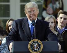 Prezydent USA Donald Trump. Mimo intenywnych negocjacji, nie udało sie Senatowi przyjąć prowizorium budżetowego