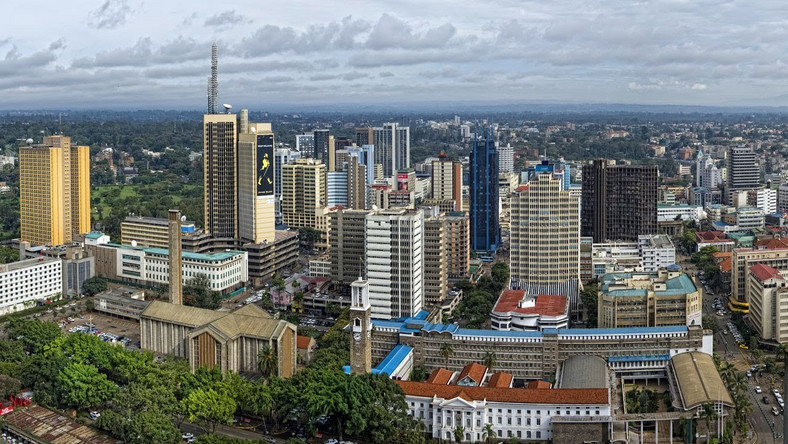 An aerial view of Kenya's capital, Nairobi City