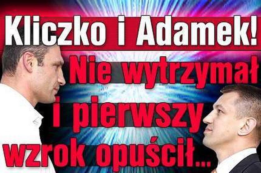 Kliczko vs Adamek. Pierwszy oczy spuścił...