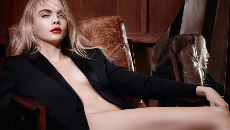 Cara Delevingne for YSL Beauty Rouge Pur Lipstick Ad Campaign