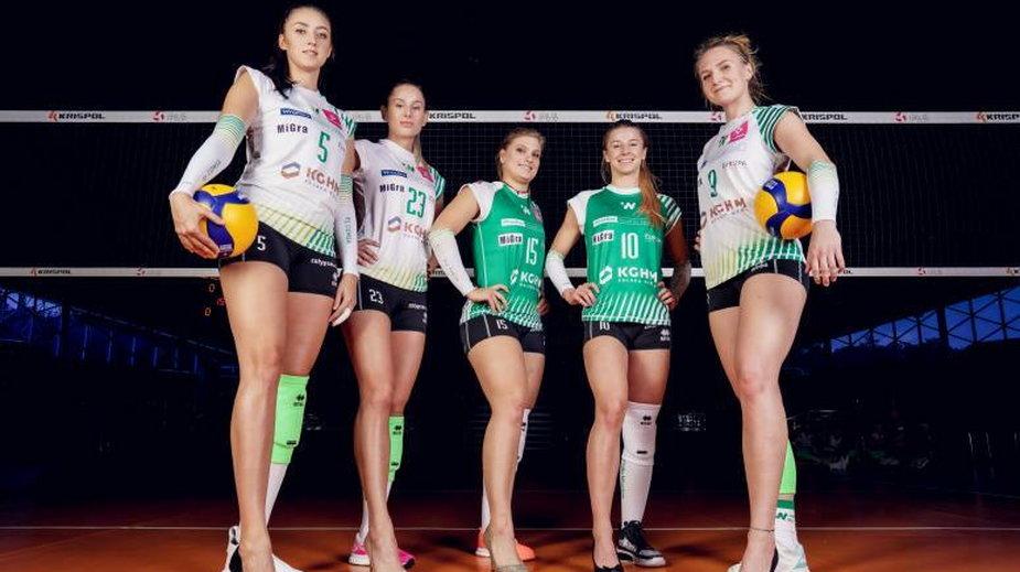 Siatkarki Volley Wrocław w szpilkach