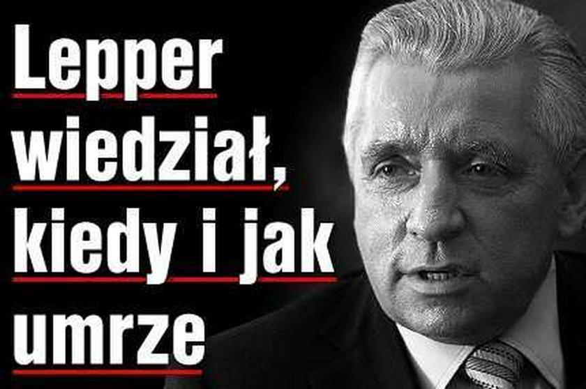 Znany jasnowidz o śmierci Leppera: To nie samobójstwo!