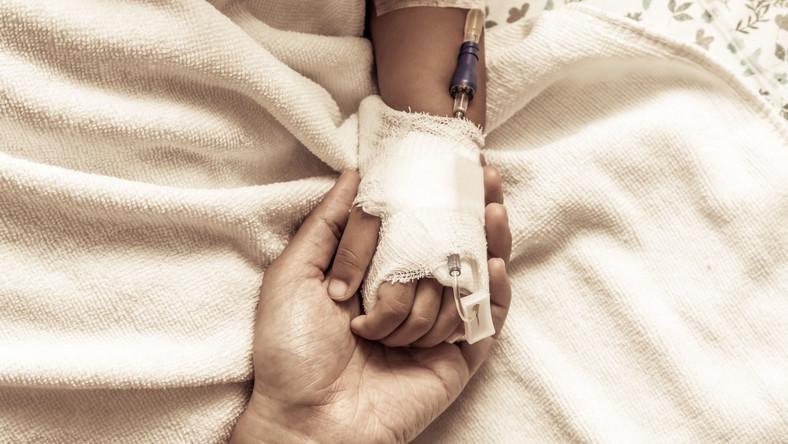Dziecko poddawane chemioterapii