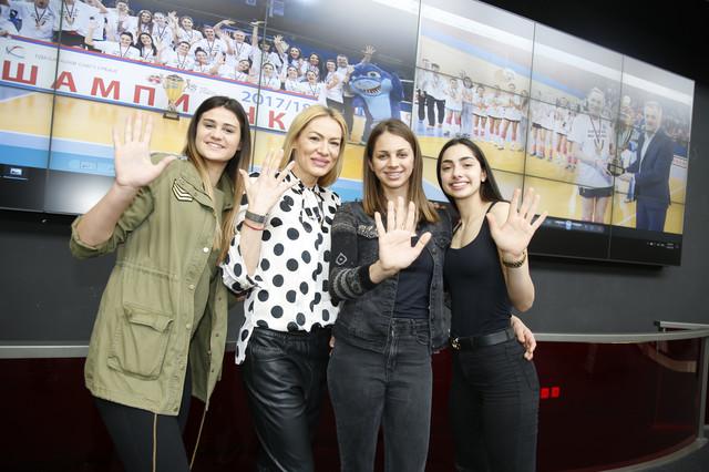 Peta uzastopna titula: Katarina Lazović, Slađana Erić, Sara Lozo i Aleksandra Ćirović