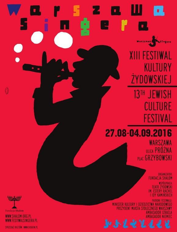 "Festiwal Kultury Żydowskiej ""Warszawa Singera"" - plakat"