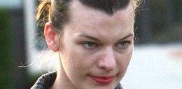 Milla Jovovich bez makijażu