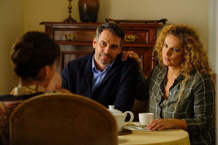 """""""Przyjaciółki"""". Patrycja nie spodziewała się, ze w jej życiu znowu poważną rolę odegra Wiktor, jej były mąż"""