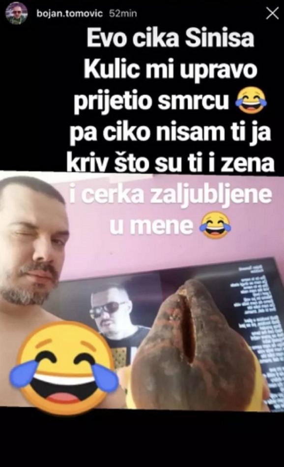 Objava Bojana Tomovića