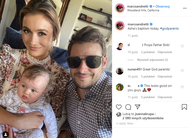 Marco Andretti na Instagramie