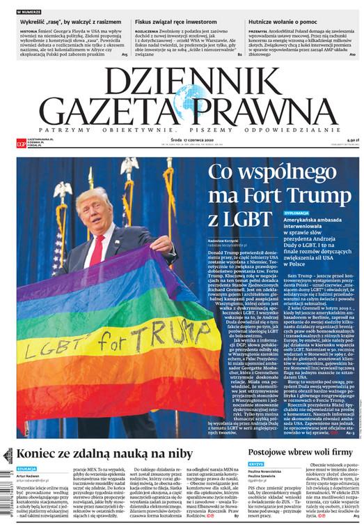 Pierwsza strona Dziennika Gazety Prawnej
