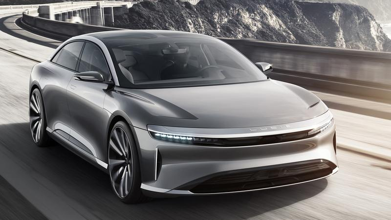 Prototyp auta Lucid Motors osiąga rekordową prędkość na torze