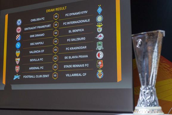 Parovi osmine finala Lige Evrope