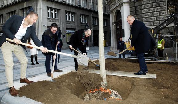 Drvo sadili Folić, Trivan, Vesić...
