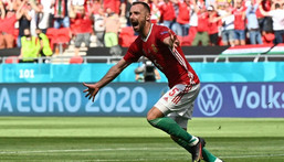 Attila Fiola put Hungary ahead against France Creator: TIBOR ILLYES