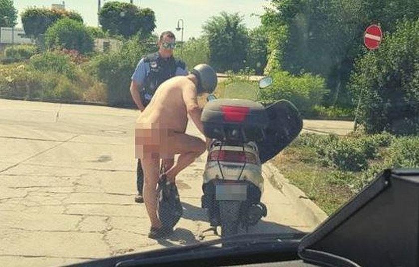 Nagi motocyklista