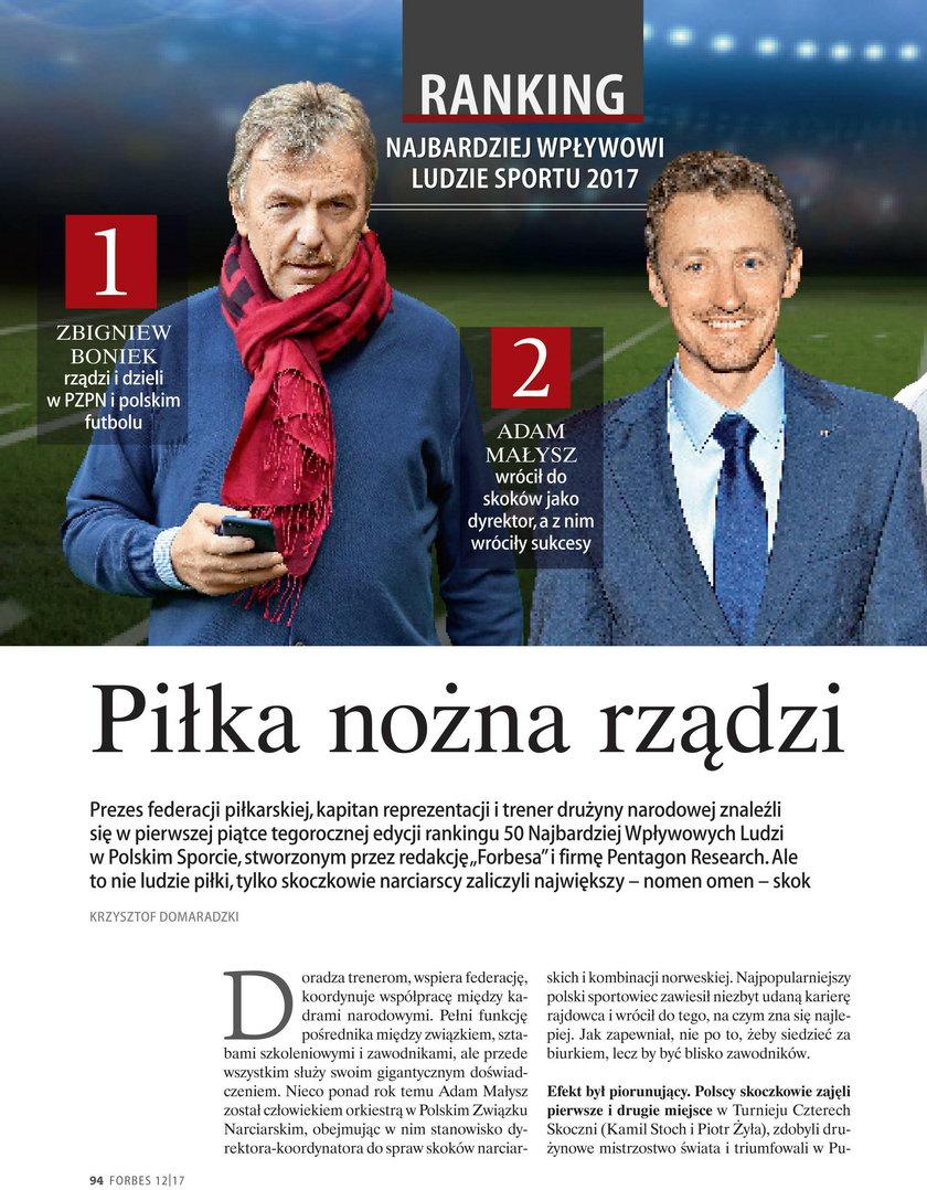 Najbardziej wpływowi ludzie polskiego sportu
