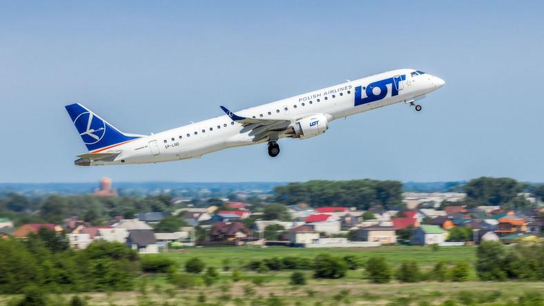 Samolot polskich linii lotnicznych LOT