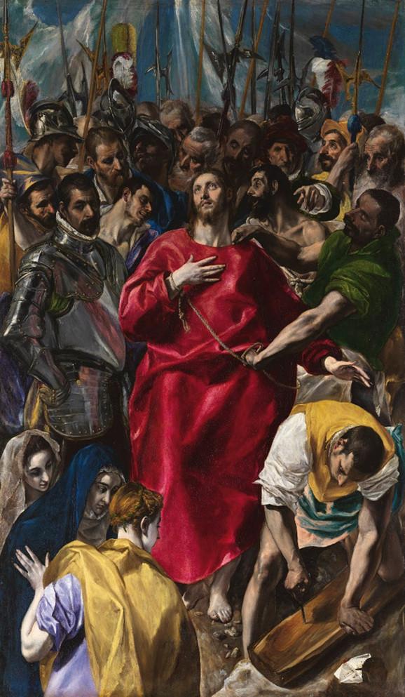El Greko, Svlačenje Hrista, 1577-79.