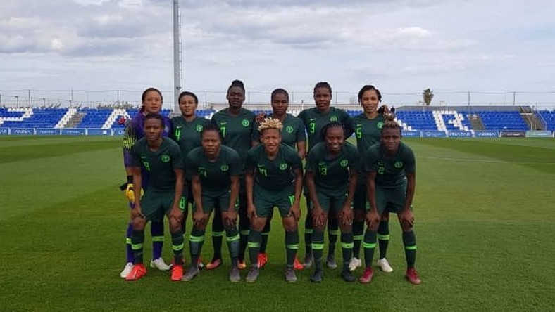 Super Falcons of Nigeria lost 1-2 to Canada in a friendly game on Monday (Twitter/Super Falcons of Nigeria)