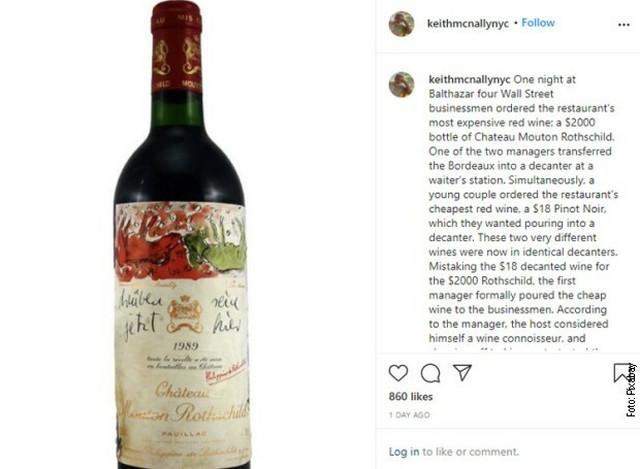 Sporna fllaša vina