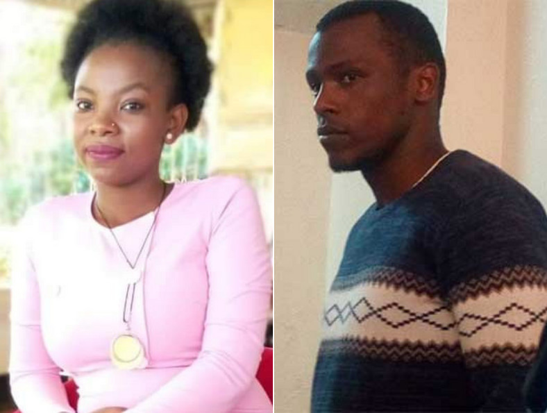 Murdered Murang'a GK Prison warder Pauline Wangari and Peterson Njiru who was arrested in connection with the murder