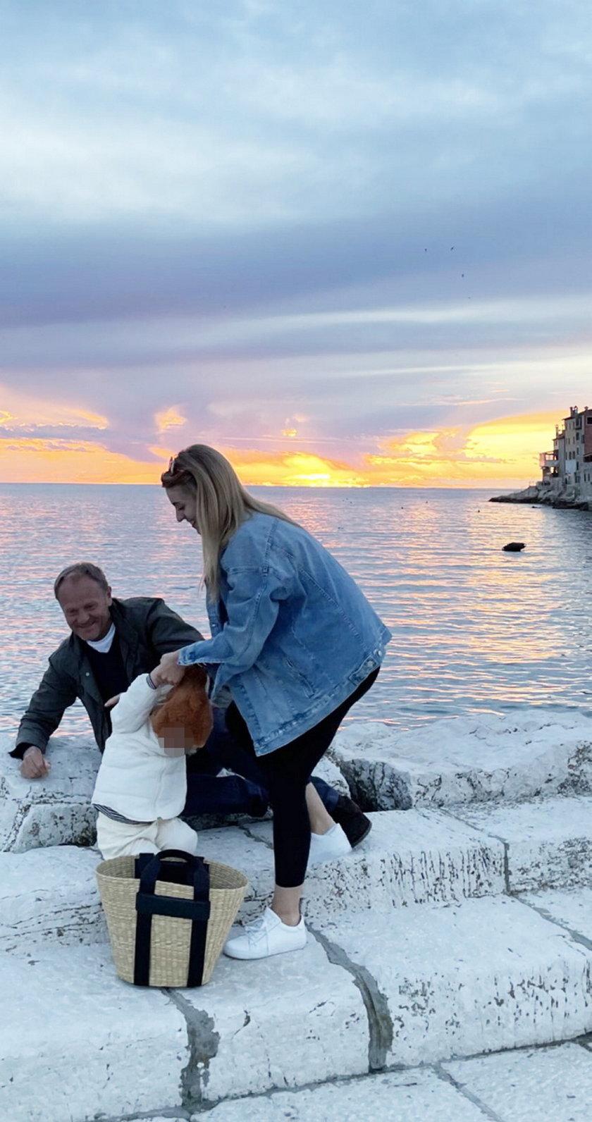 Donald Tusk z córką i wnuczką w Chorwacji