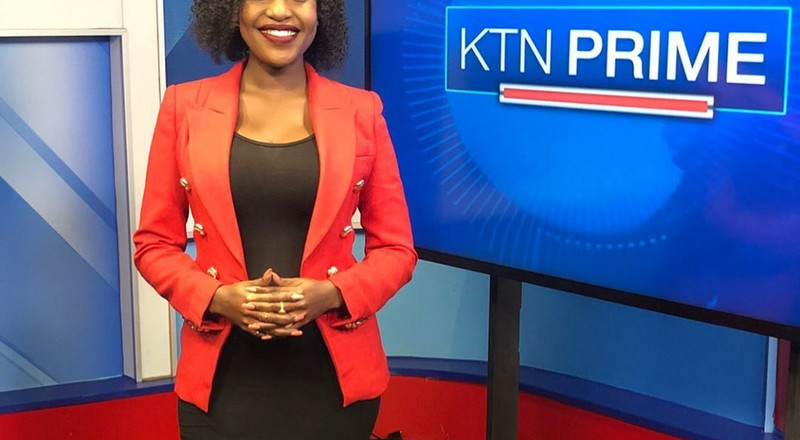 KTN news anchor Sharon Momanyi shares her baby's photo for the first time