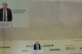 Direktor Sajma knjiga u Frankfurtu Jirgen Bos govori na otvaranju ovogodišnje manifestacije