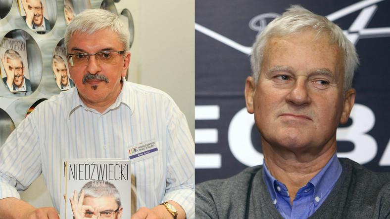 Marek Niedźwiecki i Michał Listkiewicz