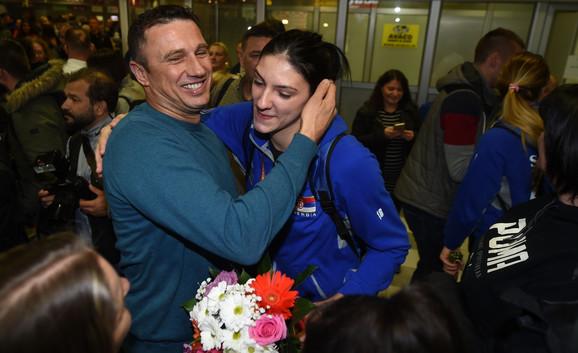 Tijana Bošković na aerodromu