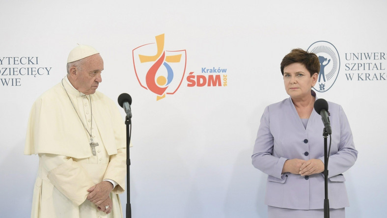 Papież Franciszek i premier Beata Szydło