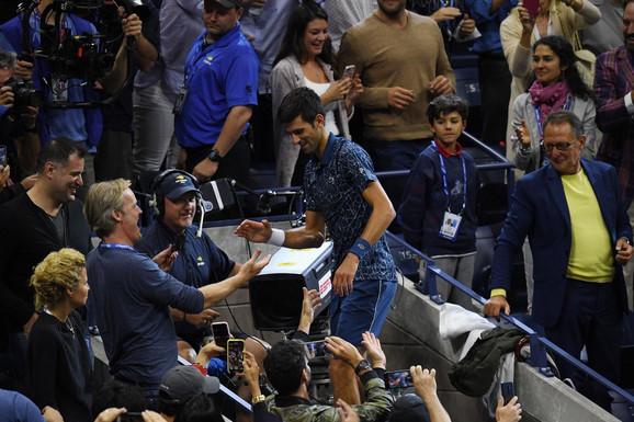 Novak Đoković među svojim navijačima u Njujorku