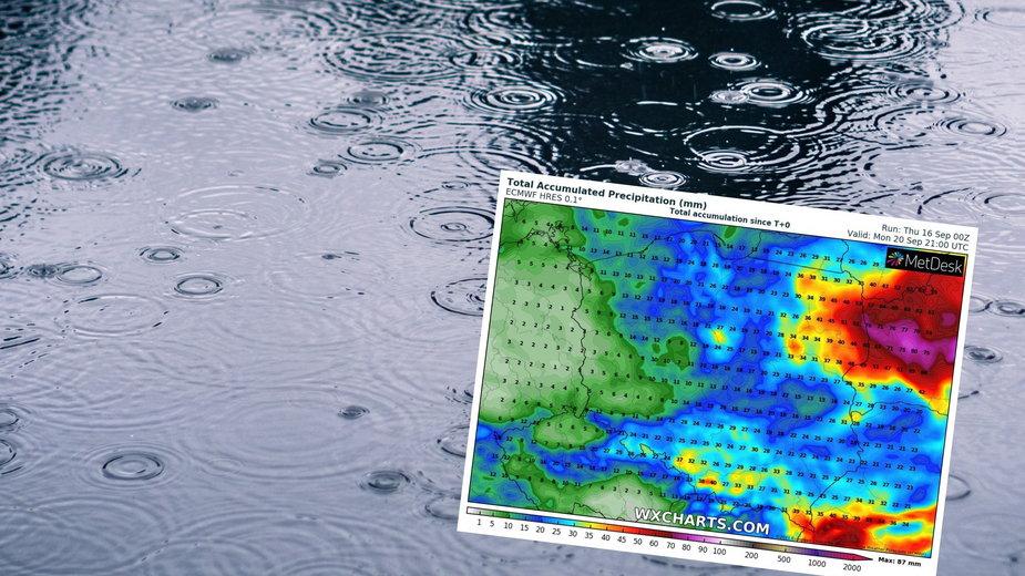 Najbliższe dni gdzieniegdzie przyniosą sporo deszczu