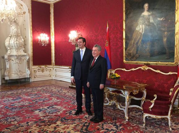Aleksandar Vučić i Hajnc Fišer