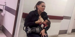 Policjantka wyjęła pierś i zrobiła to. Zdjęcia obiegły internet