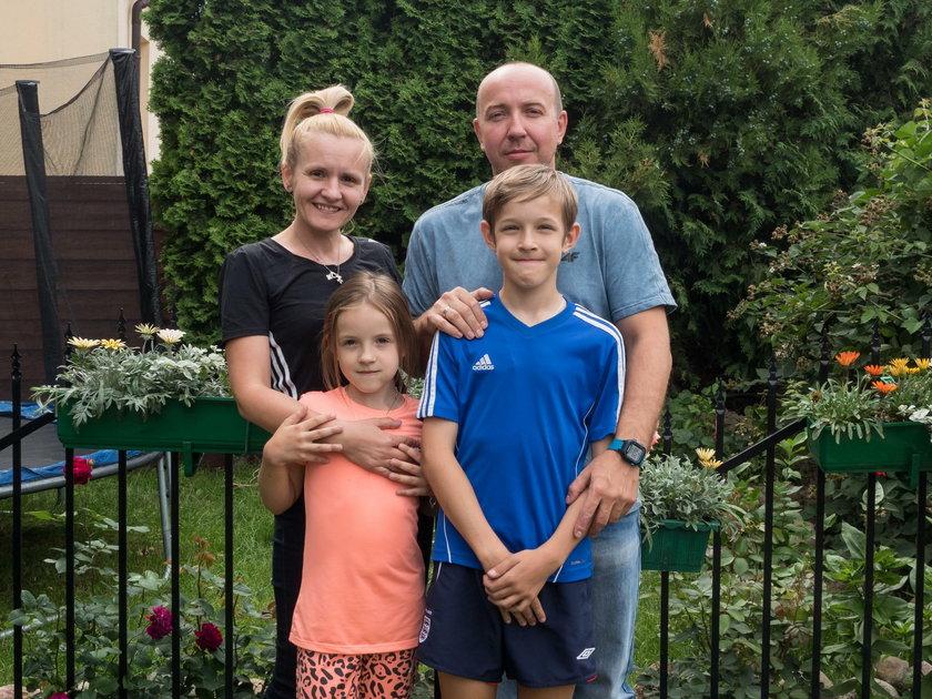 Adam Miśkiewicz z rodziną