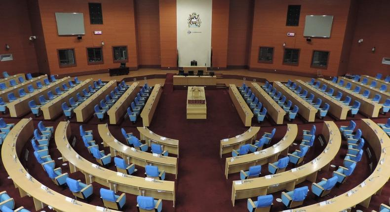 Inside Malawi's new parliament. (litwilleradventures)