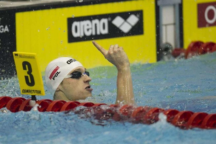 Radosław Kawęcki, dwukrotny mistrz Europy w pływaniu został powołany do reprezentacji Europy na mecz z USA
