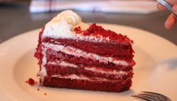 File image of a slice of Red Velvet Cake