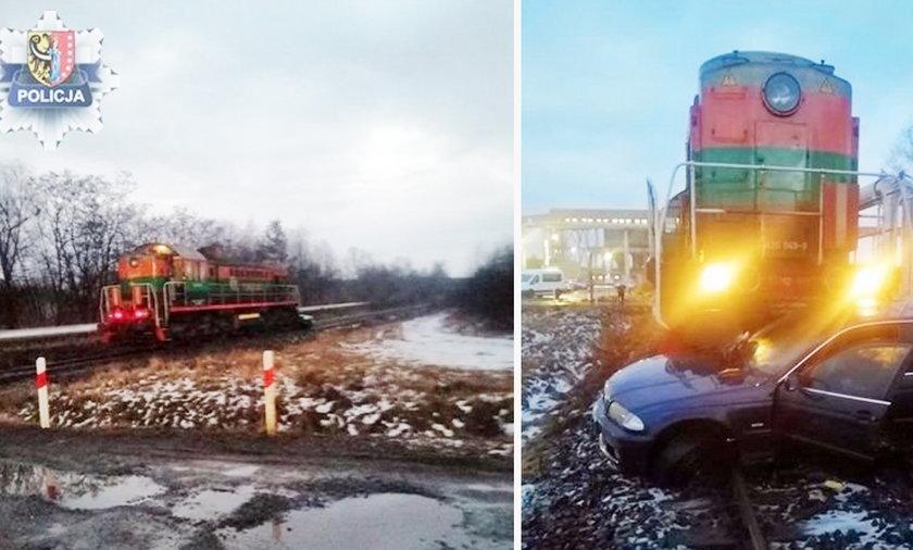 Polkowice-Sieroszowice. Zderzenie pociągu z samochodem osobowym