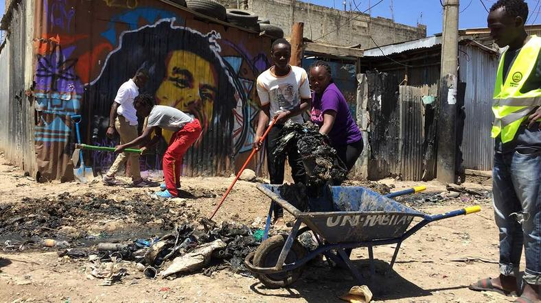 Mathare Roots Youth Group for instance organized a cleanup exercise in their community in his honor